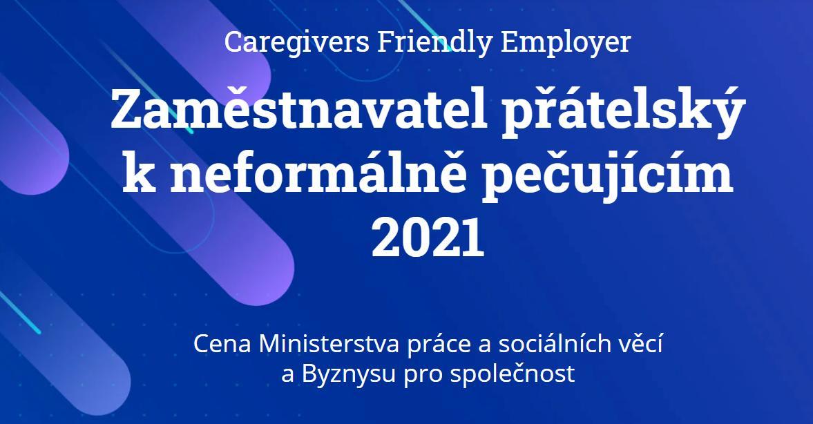 Získejte ocenění Caregivers Friendly Employer Zaměstnavatel přátelský k neformálně pečujícím 2021