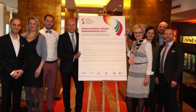 Podepsali jsme Pride Business Forum Memorandum 2017+